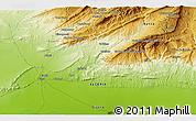 Physical 3D Map of Biskra