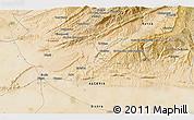 Satellite 3D Map of Biskra
