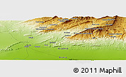 """Physical Panoramic Map of the area around 34°56'49""""N,6°1'30""""E"""