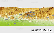 "Physical Panoramic Map of the area around 34° 56' 49"" N, 6° 52' 30"" E"
