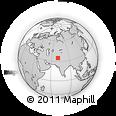 Outline Map of Korengal Outpost, rectangular outline
