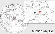 Blank Location Map of Asadābād