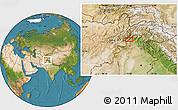 Satellite Location Map of Asadābād