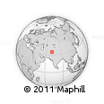 Outline Map of Bajaur Agency, rectangular outline