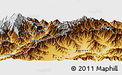 """Physical Panoramic Map of the area around 34°56'49""""N,71°28'29""""E"""
