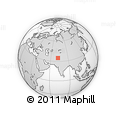 Outline Map of Lower Dir, rectangular outline