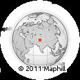 Outline Map of Bābūn Baihk, rectangular outline