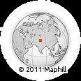 Outline Map of Tiricha, rectangular outline