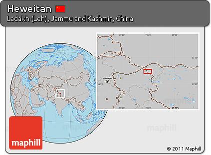 Gray Location Map of Heweitan