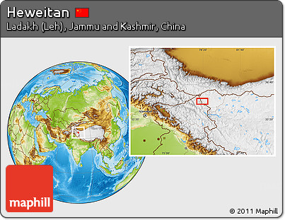 Physical Location Map of Heweitan