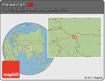 Savanna Style Location Map of Heweitan