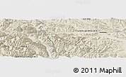 Shaded Relief Panoramic Map of Heweitan