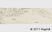 Shaded Relief Panoramic Map of Tielongtan