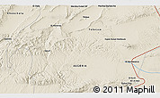 Shaded Relief 3D Map of Tlidjen