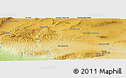 Physical Panoramic Map of Bir el Ater