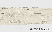Shaded Relief Panoramic Map of El Mermoutsia