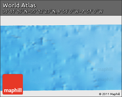"""Shaded Relief 3D Map of the Area around 34°56'49""""N,8°25'30""""W"""