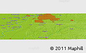 """Physical Panoramic Map of the area around 34°56'49""""N,90°1'30""""W"""