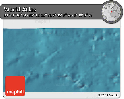 """Satellite 3D Map of the Area around 34°56'49""""N,9°16'30""""W"""