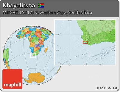 Free Political Location Map of Khayelitsha