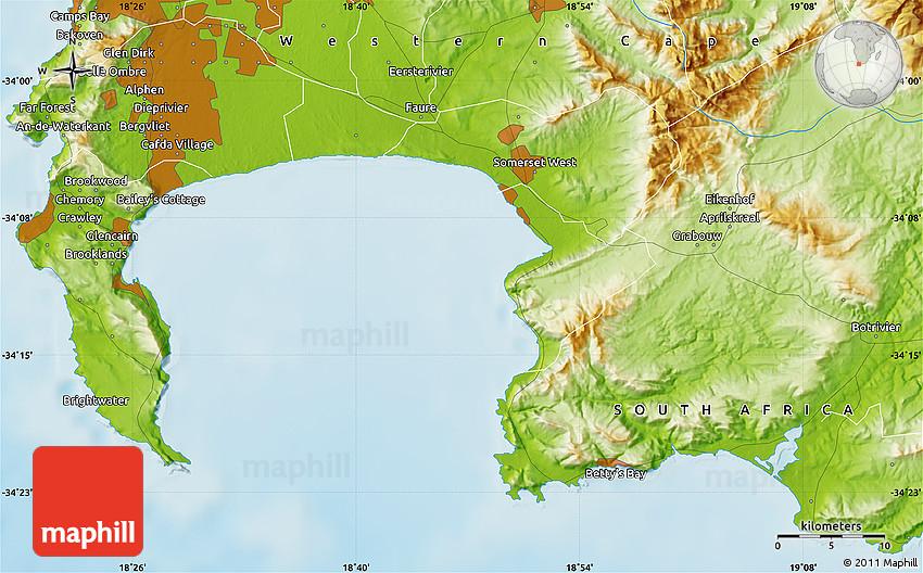 Physical Map of Khayelitsha