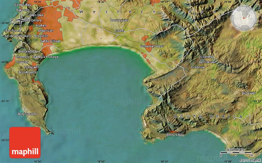 Satellite Map of Helderberg