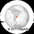 Outline Map of Vuelta Del Palmar, rectangular outline