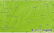 Physical Map of Rincón de Vidal