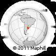 Outline Map of Martín Chico, rectangular outline