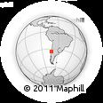 Outline Map of Punta Lobos, rectangular outline