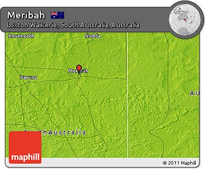 3d Map Of South Australia.Free Physical 3d Map Of Meribah
