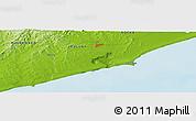 Physical Panoramic Map of La Paloma