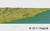 Satellite Panoramic Map of Rocha