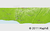 """Physical Panoramic Map of the area around 34°38'13""""S,55°10'29""""W"""