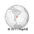 Outline Map of Montevideo Department, rectangular outline