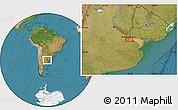 "Satellite Location Map of the area around 34°38'13""S,58°34'30""W"