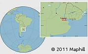 "Savanna Style Location Map of the area around 34°38'13""S,58°34'30""W"