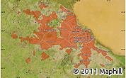 "Satellite Map of the area around 34°38'13""S,58°34'30""W"