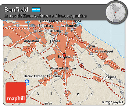Free Shaded Relief Map of Banfield