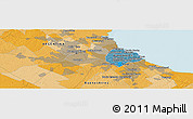 """Political Panoramic Map of the area around 34°38'13""""S,58°34'30""""W"""