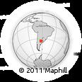 Outline Map of Piedritas, rectangular outline