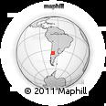 Outline Map of Mendoza Province, rectangular outline