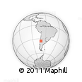 Outline Map of La Placilla, rectangular outline
