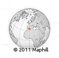 Outline Map of Mascara, rectangular outline