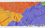 Political 3D Map of Tiaret