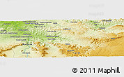 Physical Panoramic Map of Foussa