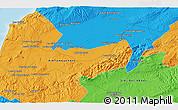 Political 3D Map of Sidi Bel Abbès