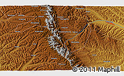 """Physical 3D Map of the area around 35°24'37""""N,106°19'29""""E"""