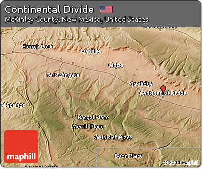 Free Satellite 3D Map of Continental Divide
