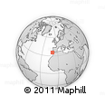 """Outline Map of the Area around 35° 24' 37"""" N, 10° 7' 30"""" W, rectangular outline"""